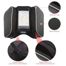 1.8L Waterproof Bicycle Bag Cycling Frame Front Head Tube Touch Screen Pannier Double Case Pouch for 5.5in Phone