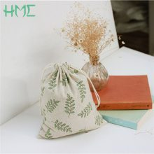 14×16 19×24 25x32CM Cotton Canvas Candy Gift Bags Olive Leaves Printed Bags Kids Birthday Party Favor Candy Drawstring Pouch