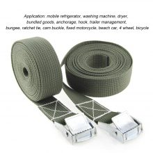 1M Buckle Tie-Down Belt cargo straps for Car motorcycle bike With Metal Buckle Tow Rope Strong Ratchet Belt for Luggage Bag