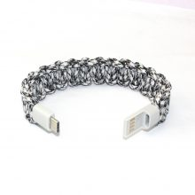 Huawei phone USB Men Bracelets Umbrella Rope Bracelet for Data Cable Charger Outdoor MultiFunction Wristband Women Bangles Gifts
