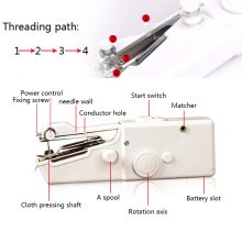Mini Portable Handheld sewing machines Stitch Sew needlework Cordless Clothes Fabrics Electric Sewing Machine Stitch Set