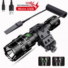 60000LM LED L2 Tactical Flashlight Super Bright USB Rechargeable Torch clip Hunting light Waterproof for 18650 battery