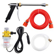 1Set DC 12V 100W 160PSI High Pressure Car Electric Washer Wash Pump Set Portable Auto washing machine Kit with Car charger