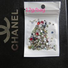 Mixed size color 10g/bag 3D Nail Art Decorations Non Hotfix Flat back crystal Rhinestones for nails DIY