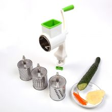 Manual Vegetable Cutter Rotary Grater 4x Replaceable Drums Potato Fruit Cheeses Slicer Vegetable Shredder Kitchen Gadgets