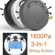1800Pa robot vacuum cleaner Multifunctional Smart Floor Cleaner,3-In-1 Auto Rechargeable Dry Wet Sweeping cleaner