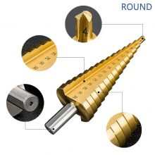 HSS Titanium Coated Step Drill Bit Drilling Power Tools for Metal High Speed Steel Wood Hole Cutter Cone Drill