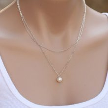 The Latest Elegant Lovely Sweet Girl Jewelry Necklaces Simulated Pearl Fine Chain Clavicle