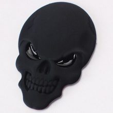 1 Pc Car Styling Fashion Metal Stickers 3D Skull Car Sticker Logo Car Motorcycle Accessories Gold Silver Black