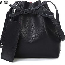 Candy color fashion all-match bucket bag  pu leather one shoulder cross-body women's handbags