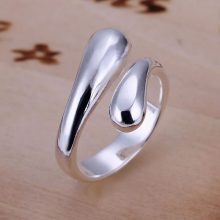 Women's Fashion Jewelry Set Wedding Big Promotion Silver Plated Water Drop Bangles & Bracelet Necklaces Rings Earrings for Women