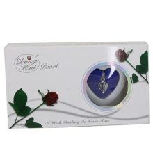 Fashion Natural Wish Pearl Love Heart Cage Necklace For Women Oyster Drop Pendant Pearl Box