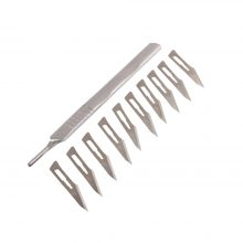 10 pcs 11# Carbon Steel Scalpel Surgical Blades For PCB Circuit Board + 1 pc #3 stainless steel Handle