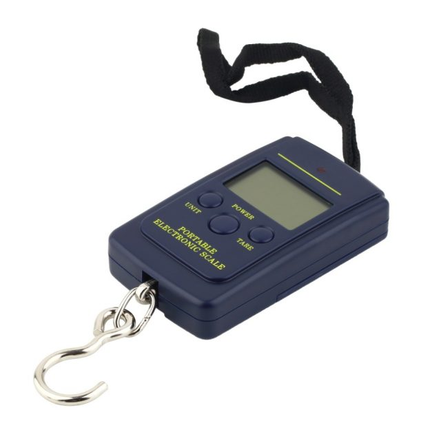 40kgx10g Portable Mini Electronic Digital Scale Hanging Fishing Hook Pocket Weighing 20g Scale the Balance of Kitchen