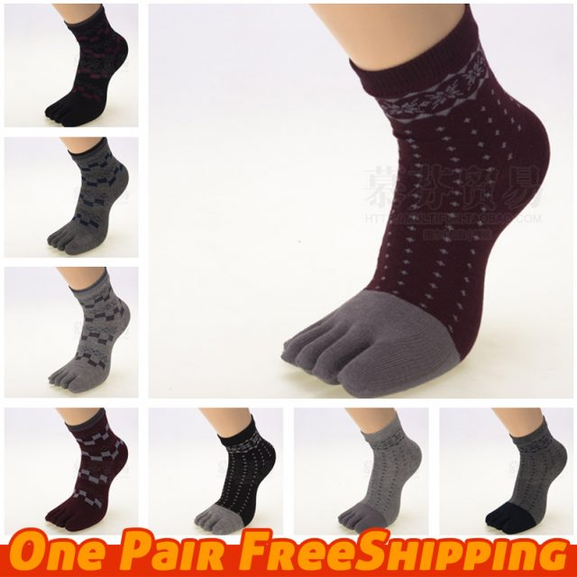 Women Toe Socks Ankle High Toe socks assorted color lady five 5 Toe Socks 5 fingers socks one pair feet care
