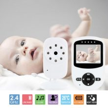 2.4″ Wireless Digital Baby Monitor LCD Two Way Talk 360 Degrees Night Vision Audio Video Security Camera Music Temperature