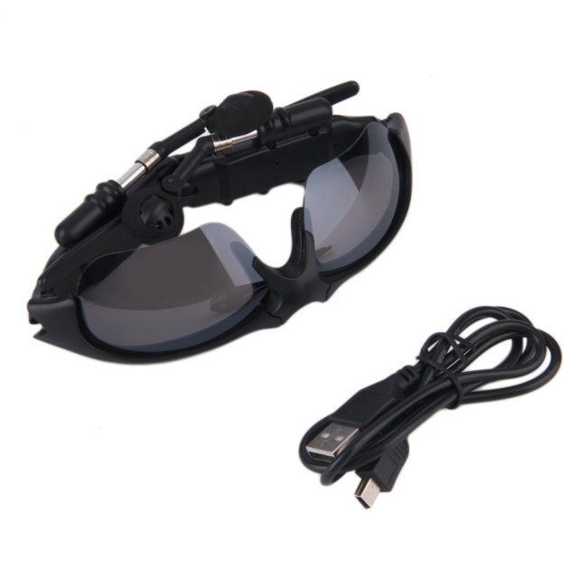Wireless Handsfree Bluetooth 4.1 Headset Stereo Headphone Sunglasses Sports Music Driving Sun Riding Glasses ABS+PC Earphone