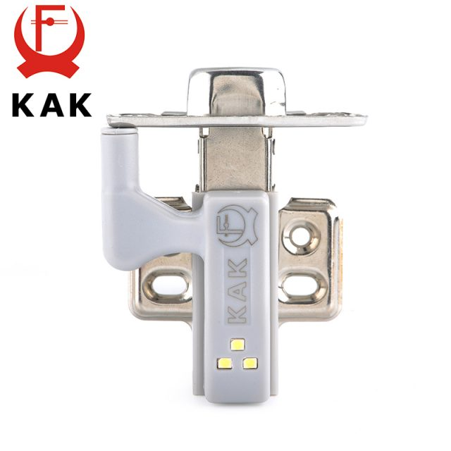 10PCS KAK LED Cabinet Hinge Light Universal Kitchen Bedroom Living Room Cupboard Wardrobe 0.25W Inner Sensor light Hardware